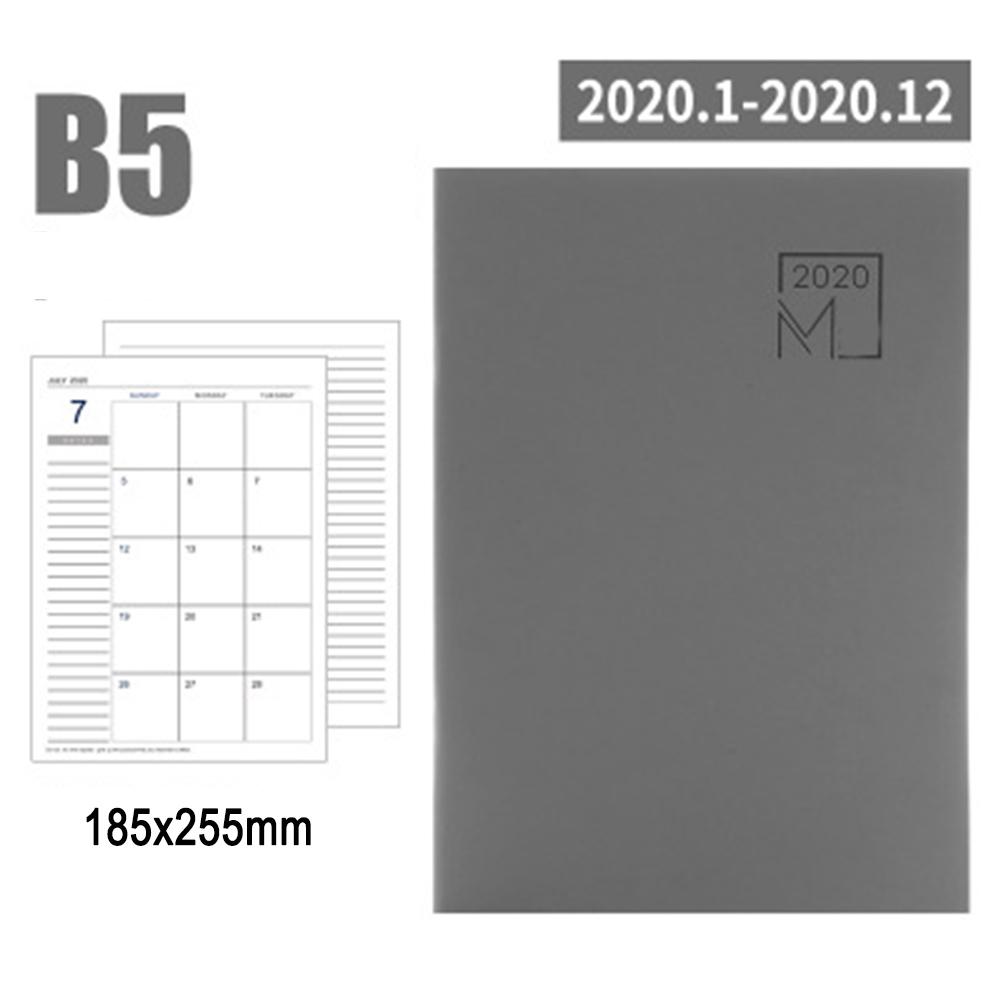 Записная книжка 2020, планировщик, дневник, книга для совещаний, школьные канцелярские принадлежности, Ежемесячный план, принадлежности UY8(Китай)