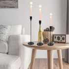 Black Candelabra Tables JH-Mech Traditional Black Fireplace Candle Candelabra For Tables Or Floor