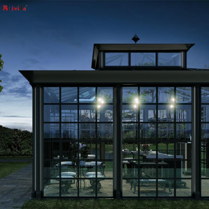 Высококачественные сборные стеклянные консервативные дома на заказ
