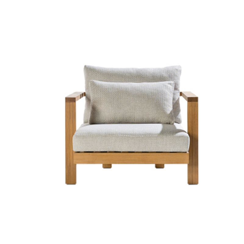 Modern Teak Wood Furniture with Cushions Sofa Set Living Room Sectional Bed Outdoor Sofa