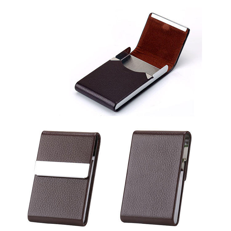 red leather cigar case zipper stainless steel cigarette case 100s for women