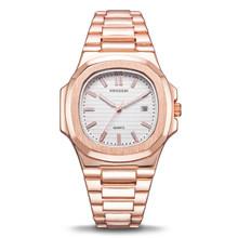 Швейцарские часы мужские люксовый бренд море Nautiluses Женева календарь из нержавеющей стали Кварцевые часы с подсветкой rolexable золотой(Китай)