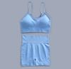 Blue bra+short