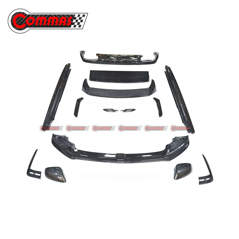 New Arrival Front Rear Lip Roof Wing Spoiler Carbon Fibre Car Body Kit For Bentley Bentayga W12 Bodykit