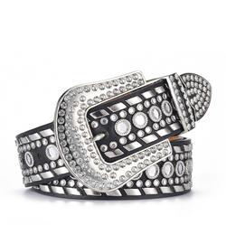 Designer belts famous brands for men Fashion gift Western Cowboy Bling Bling Crystal Studded glitter PU Leather Rhinestones Belt