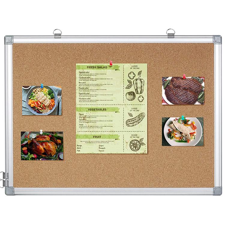 Hot Sale Wooden Frame Double Side Soft Felt Cork Board Bulletin Board For Thumbtack - Yola WhiteBoard   szyola.net