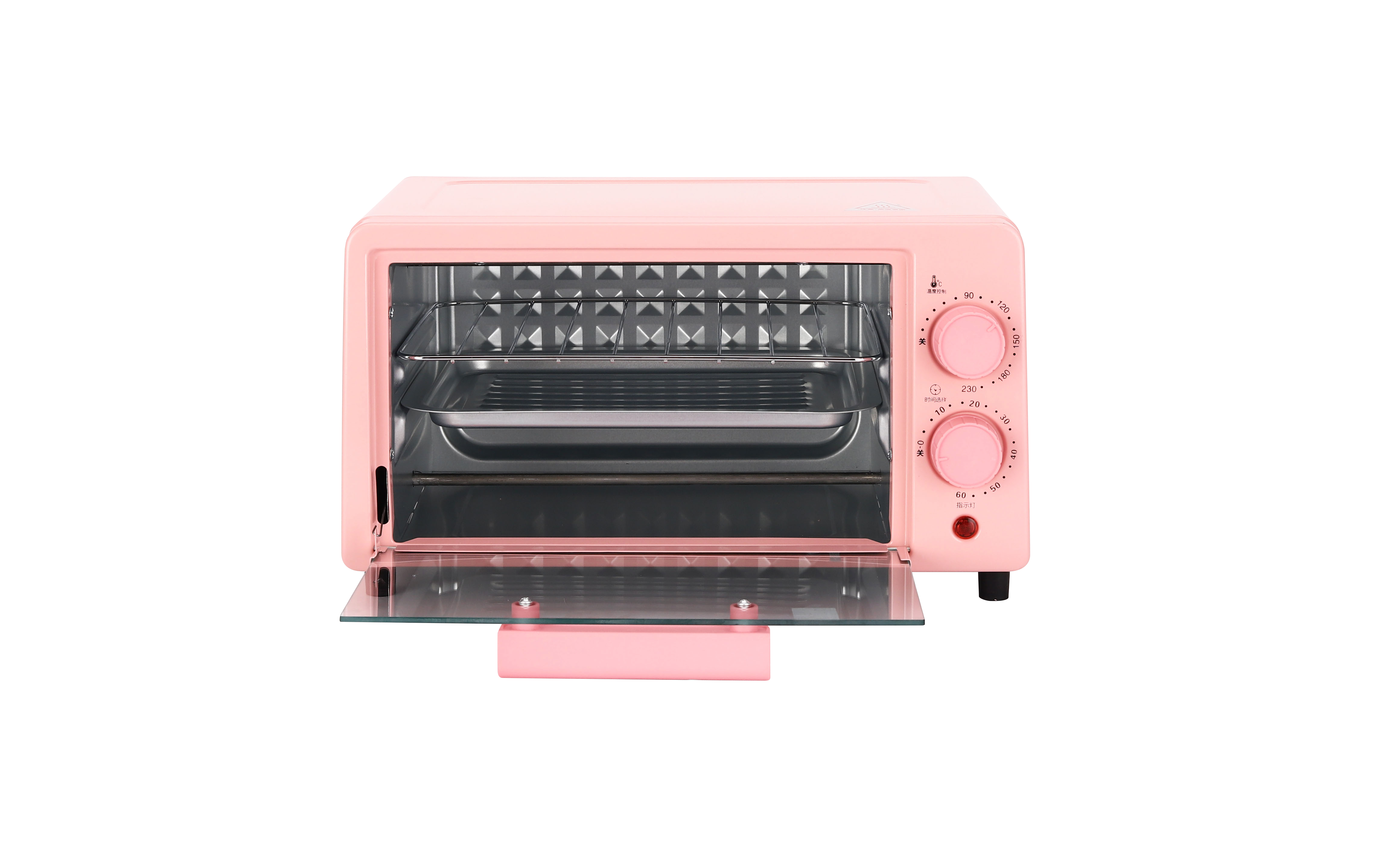 Mini pink oven Electric 12L  large Bake Benchtop Hot Plate Rotisserie For Family or Commercial