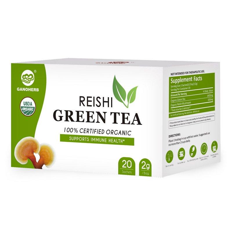 Hot Sale wholesale China Organic Herbal Reishi Room Ganoderma Linzhi Green Tea Bag health tea manufacturer - 4uTea | 4uTea.com