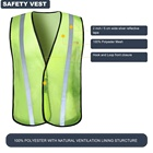 Safety Vest Custom Logo Fluorescent Work Mesh Cheap Wholesale Hi Vis Traffic Reflective Safety Vest