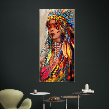African Indian Women Wall Art Decorative Canvas Paintings Cheap Art Prints