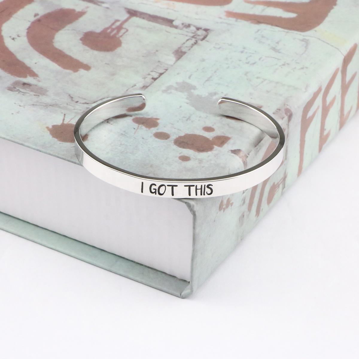 Joycuff  Motivational Jewelry Simple Fashion I Got This Open Cuff Bracelet Unisex
