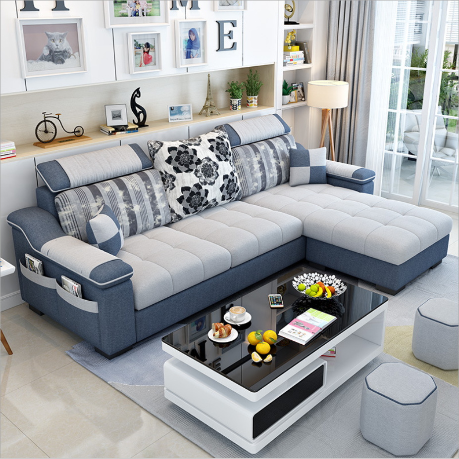 modern design l shaped fabric sectional sofa classic small cheap cozy fabric linen sofa set hot sale hotel furniture buy wholesale classic l shaped