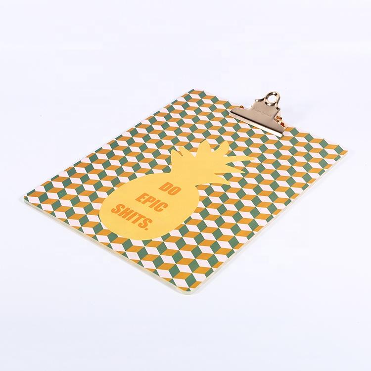 Офисные принадлежности, металлический зажим, Акриловая Складная папка для бумаг, доска для письма