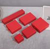 matte red ring box 5*5*3.5cm