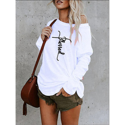 Самая низкая цена 2021 одежда женские модные блузки и рубашки футболка с принтом топы с открытыми плечами женские Топы Блузки