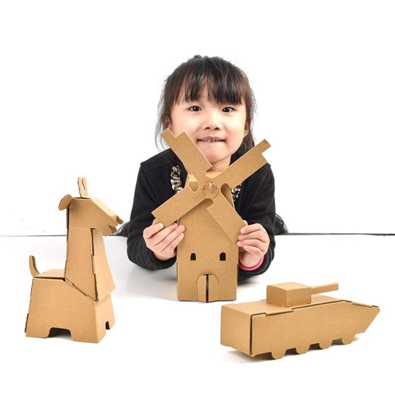 kids creative DIY painting toy art educational toy doodle cardboard