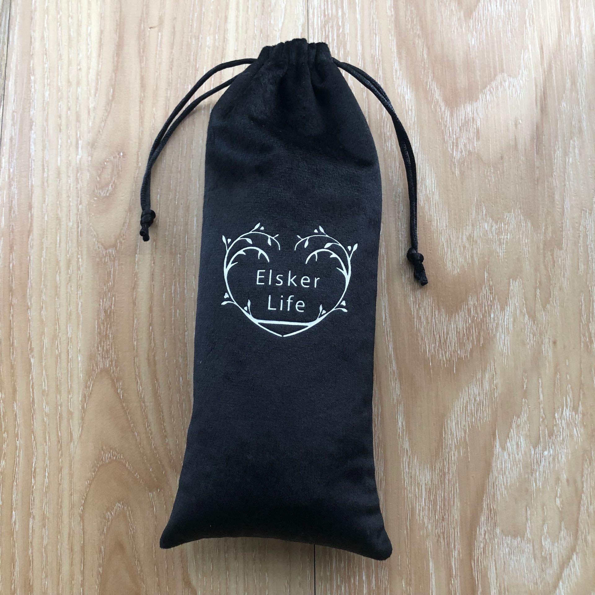 Красная черная бархатная хлопковая льняная упаковочная сумка для косметики
