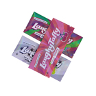 Plastic Bags Customized Back Side Sealed With Aluminum Foil Tear Notch Chocolate Candy Plastic Packaging Bags