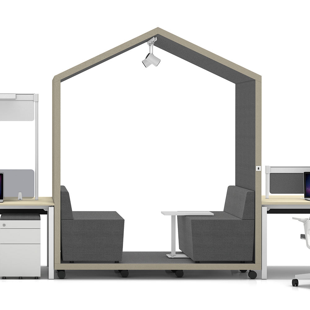 Office meeting pod telephone booth chatting pod priviate meeting sofa fabric restaurant booth sofa sound insulation coffee bar