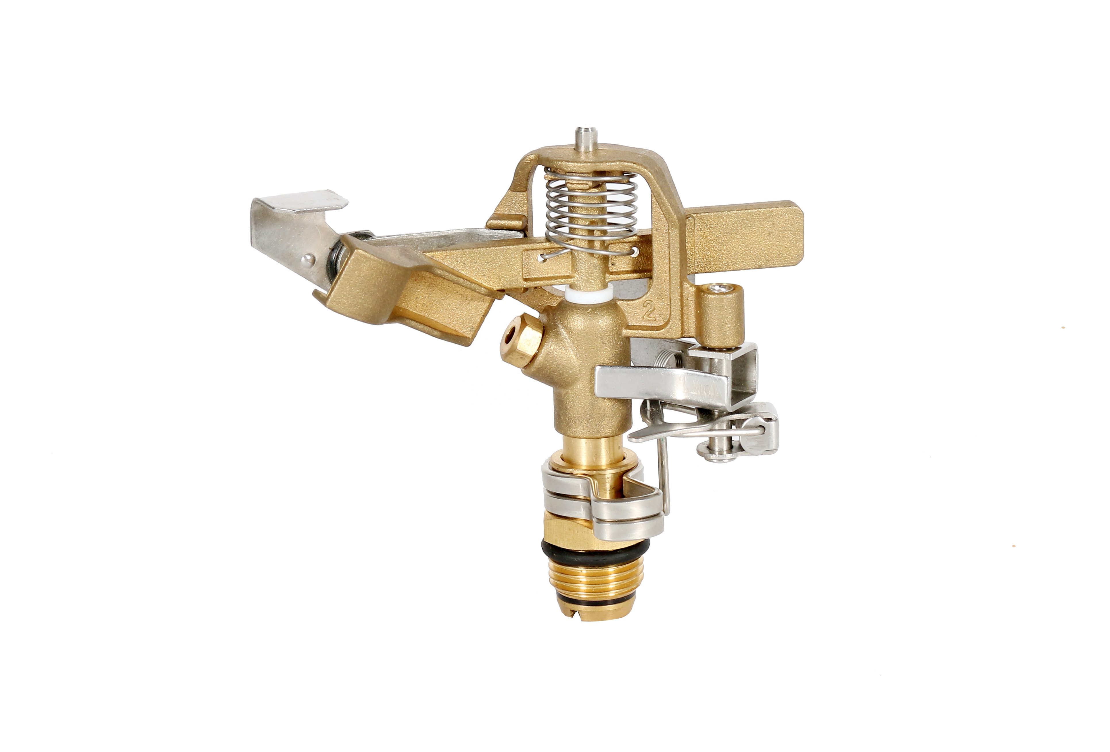 Brass Rotary Sprinkler Head New Product LUMAO Sprinkler Brass Nozzle 1' Inch Adjustable Full and Part Circle Watering Equipment