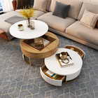 Table Coffee Table Round Table Wood Top Center Tea Table Modern Living Room Furniture Adjustable Round Coffee Table Wooden Luxury