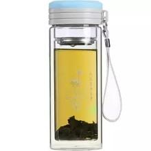 Двухслойная стеклянная чашка для мужчин и женщин, чашка для чая, фильтр для воды, офисный бизнес подарок, чашка для чая, толстая Вакуумная ча...(Китай)