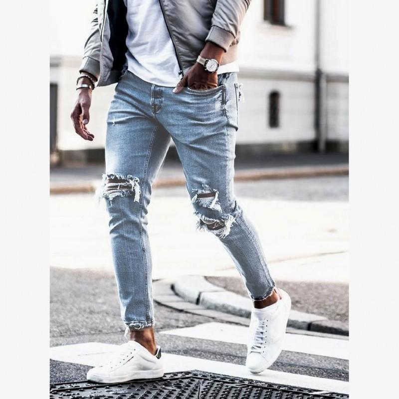 Pantalones Vaqueros Ajustados Para Hombre Ropa De Calle Vaqueros Rotos Para Hombre Hip Hop Pantalones Pitillo Para Motorista Vaqueros Y12746 Buy Vaqueros Skinny Hombre Hombres Pantalones Vaqueros Vaqueros Para Hombres Product On Alibaba Com