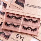 Factory wholesale price 25mm 3d mink eyelashes real siberian mink 25mm lashes with customize own brand box