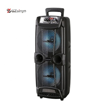2021 new style double 8 inch wireless portable trolley blue tooth speaker