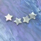 Wholesale Custom White Mother Of Pearl Jewelry Accessory MOP 5 Pointed Star Beads Loose Gemstone