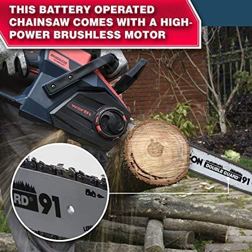 Высококачественная Беспроводная Коммерческая цепная пила для резки дерева с литиевой батареей Орегона