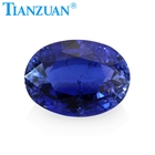 Shape Oval Corundum Stone Thailand Cut Royal Blue Synthetic Sapphire Oval Shape Corundum Gem Stone With Cracks And Inclusions
