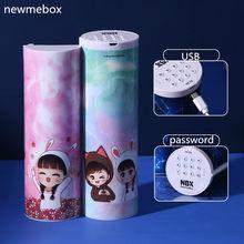 NewmeBox пенал с калькулятором Зыбучие пески полупрозрачные пенал школьный многофункциональное канцелярия для школы школьные принадлежности ...(Китай)