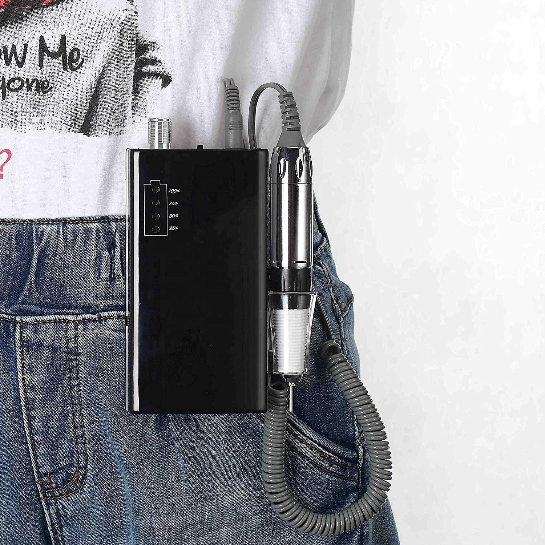 customize private logo 30000rpm wireless rechargeable e file portable nail drill machine for manicure
