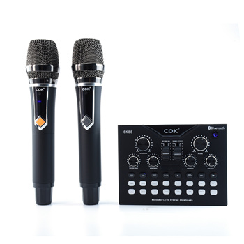 COK SK88 rechargeable home use usb live sound card studio recording with condenser recording mic
