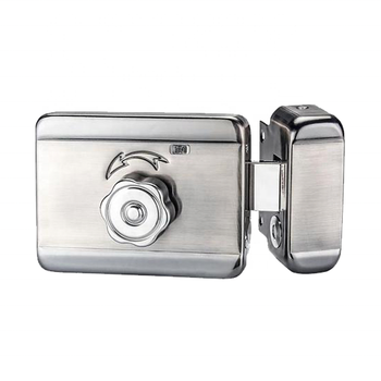 Low power consumption 12V steel electric rim lock inside and outside security gate mortise door lock apartments