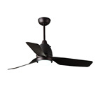 School Control Fan 1STSHINE Office School 44 Inch 3 ABS Blades Copper Motor Ceiling Fan With LED Light And Remote Control 220V
