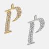 P - 18k gold or rhodium
