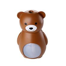 160 мл USB увлажнитель воздуха с милым медведем, светодиодный ультразвуковой увлажнитель воздуха для автомобиля, мини домашний Настольный очи...(Китай)