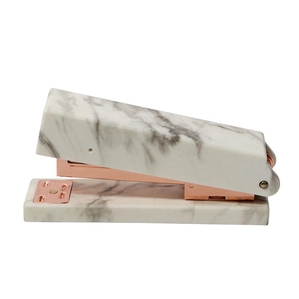 office supplies hot gift desktop accessories standard Marble rose gold stapler