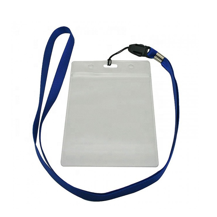 Heavy Duty Plastic Cover Sleeve Pouch Waterproof Resealable Zip Name Tag PVC Badge Clear id Card Holder