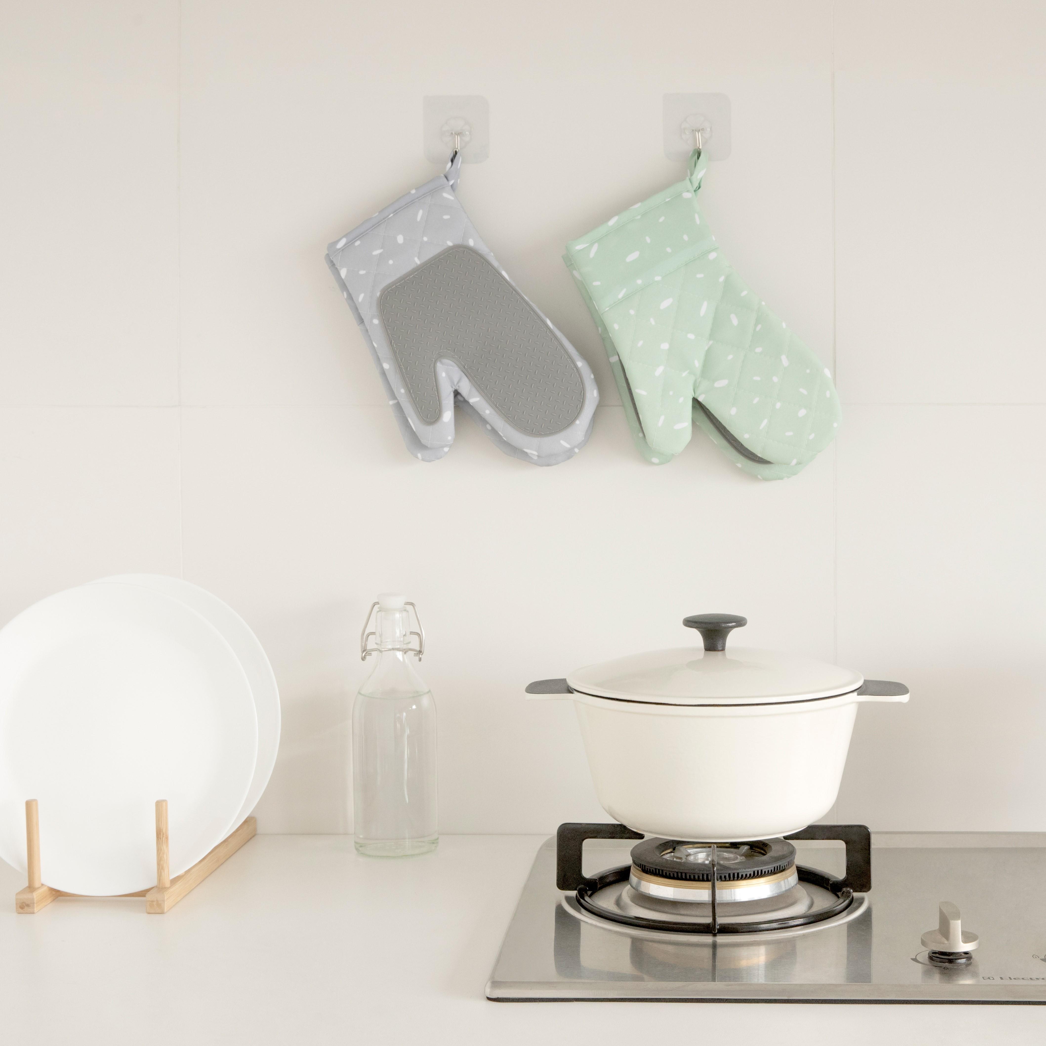 kitchen tools cooking double oven mitt glove colorful oven glove kitchen baking gloves oven mitts