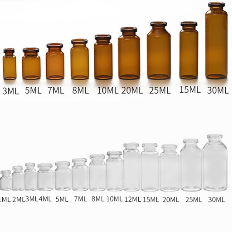 5 мл 7 мл 10 мл литой стеклянный флакон для антибиотиков фармацевтическая стеклянная бутылка вакцина/инъекция использовать прозрачный флакон стеклянная бутылка