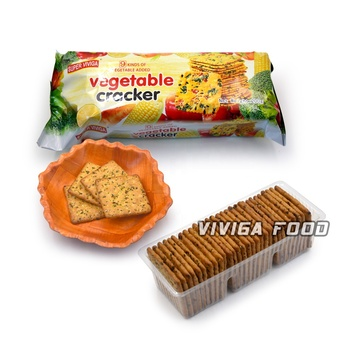 Bakery food item natural vegetable cracker biscuit factory direct