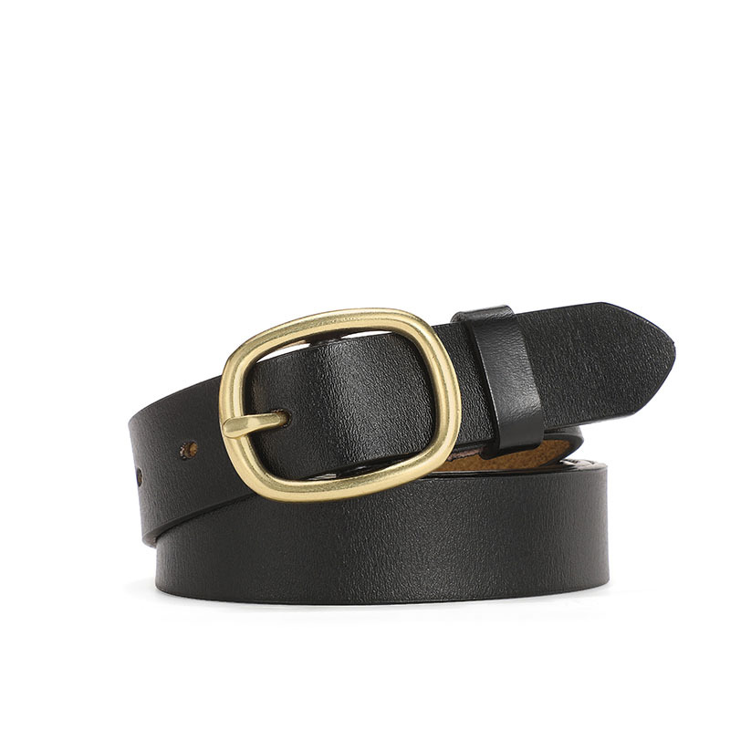 2020 Versatile Classic Business Buckle Solid Color Belt Leather Belt For Women