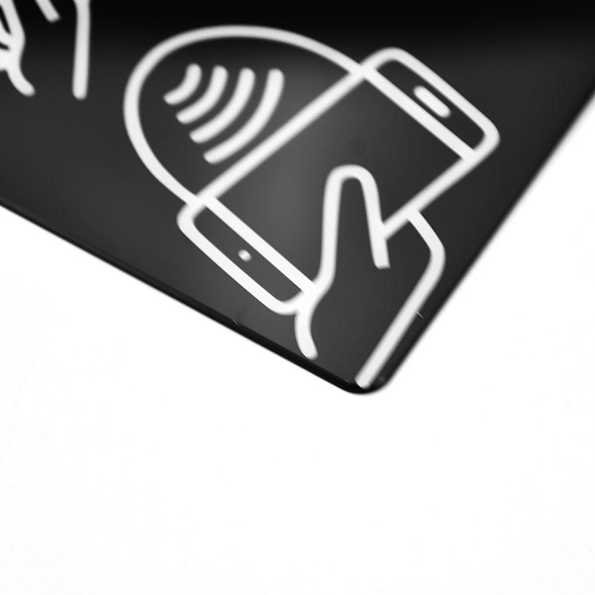 Акриловый верхний слой передней панели управления для переключателя, размер под заказ
