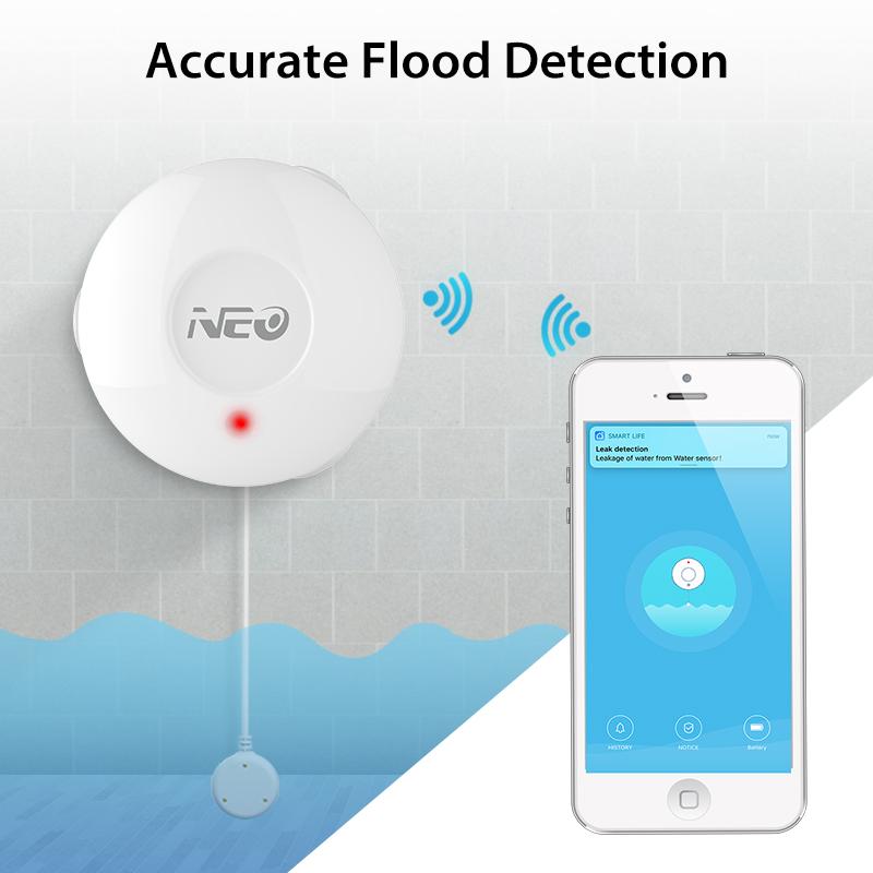 Беспроводной Wi-Fi датчик глубины воды Tuya smart kitchen