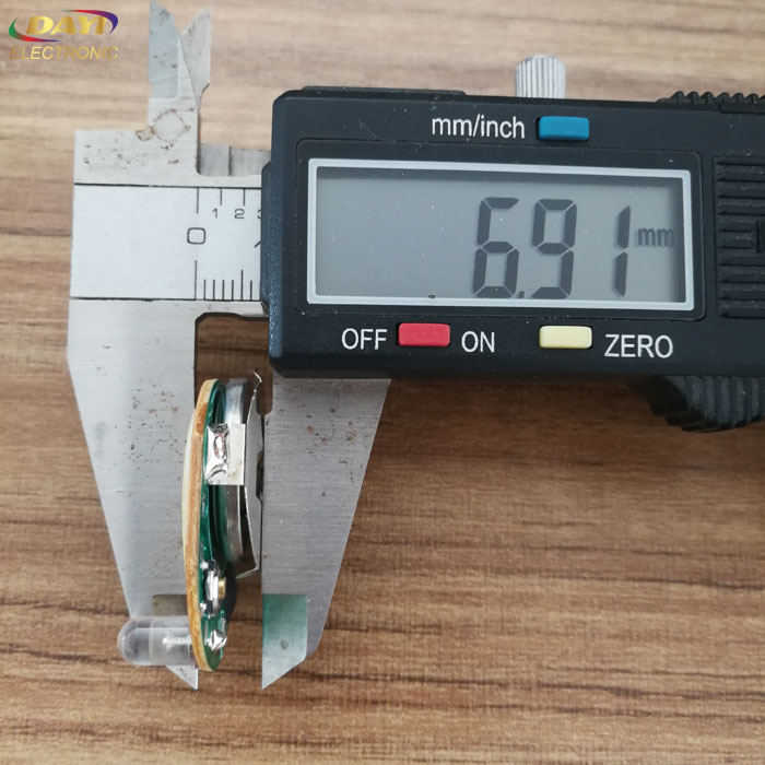 Blinking led light module button, thin led battery powered light with adhesive tape