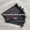 25.Black Pouches 5pcs