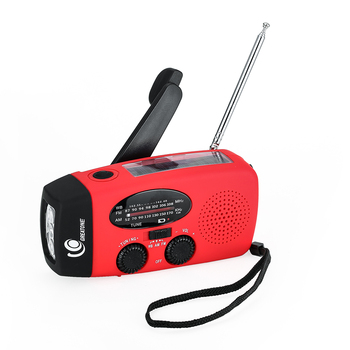 Emergency Solar power Hand Crank AM FM NOAA Radio/Flashlight dynamo Portable mini walkman Radio